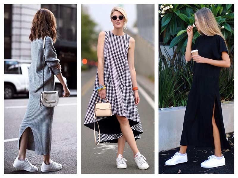 мода на белые кросовки